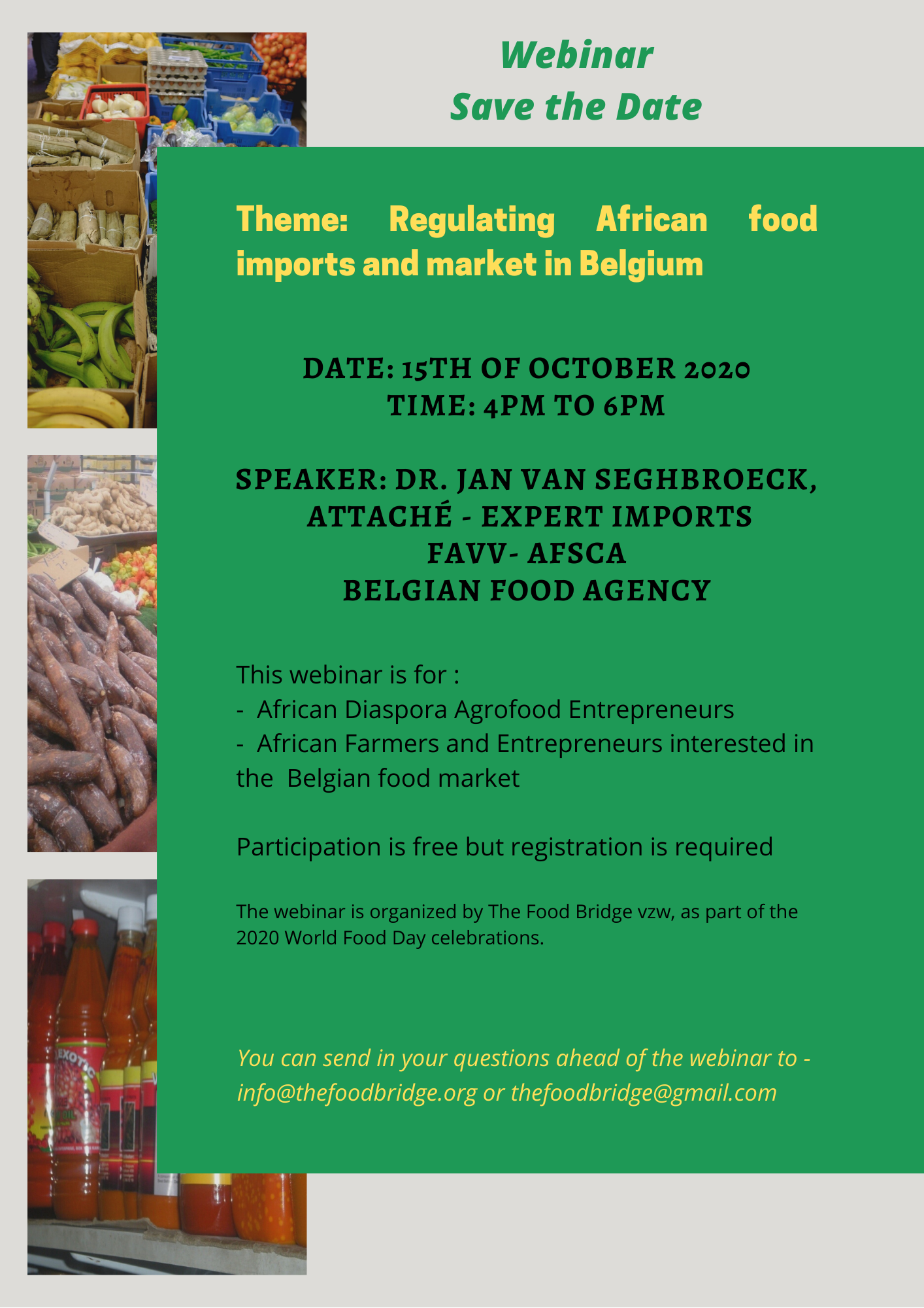 African food imports in Belgium