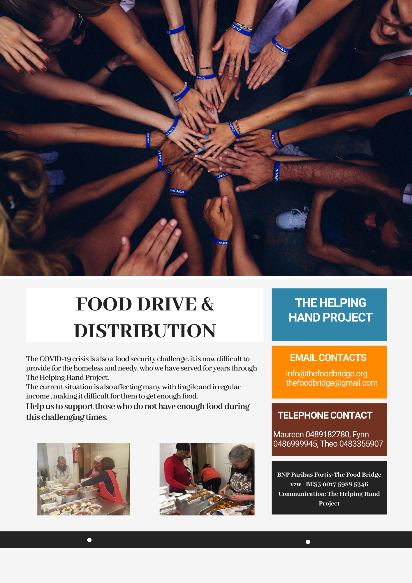 Food Drive helping hand